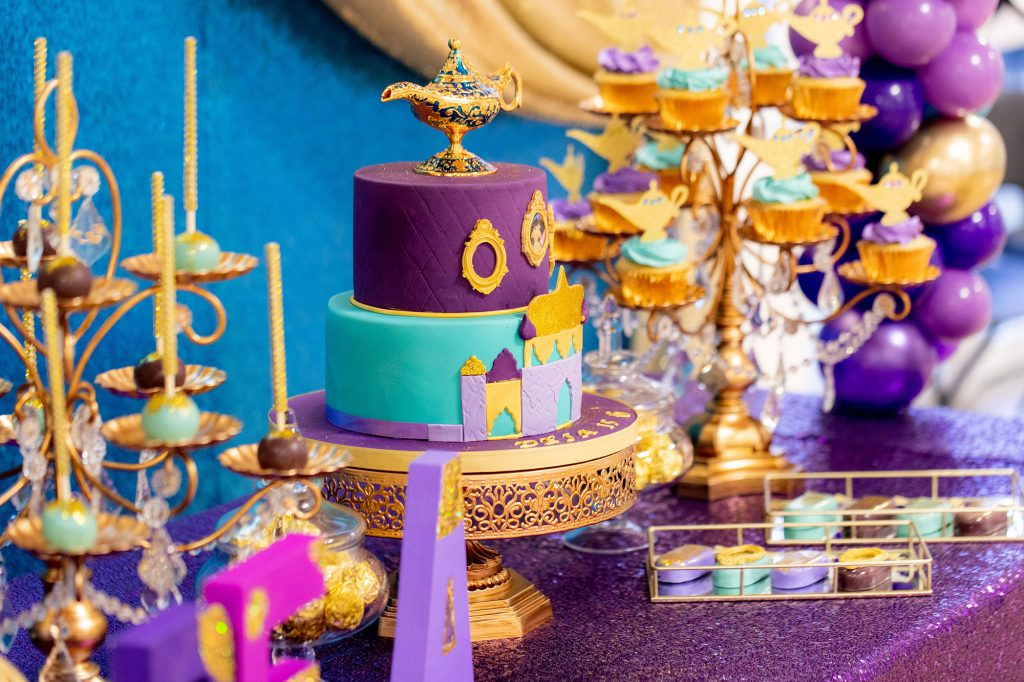 Disney Aladdin Party desserttable caketable