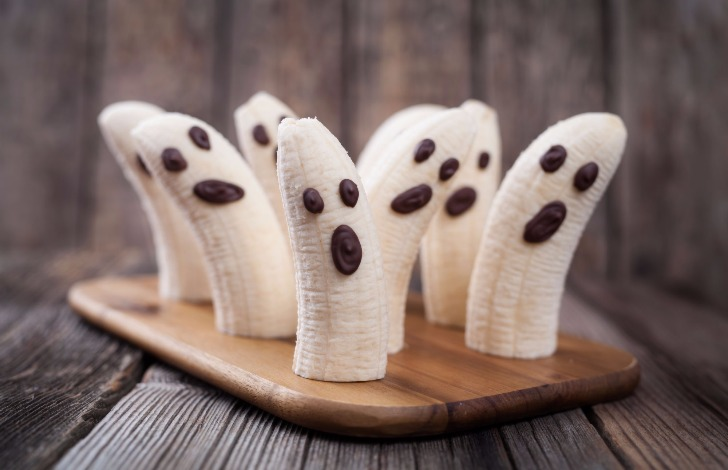 Banana Ghost Halloween snacks