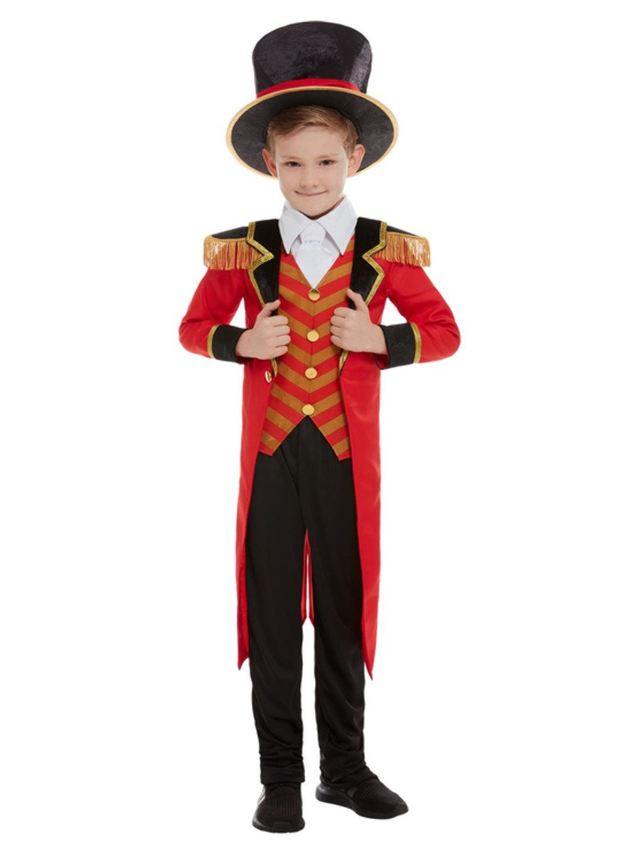 Boy dressed in a Halloween Ringmaster costume